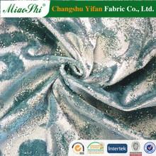 Graham&Spencer chosen sprayed golden floral design polyester velour for dress