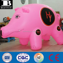 China inflatable pig balloons kids plastic inflatable pig toys inflatable animal toys custom