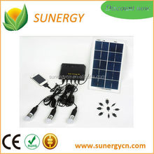 4W 5V Solar portable led mini light kits with 3.7V/4400mAh lithium battery power