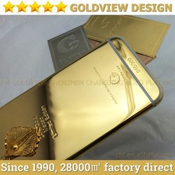 2015 New products 24 ct gold plating housing for iPhone 6 case for iPhone 6 plus 64 gb gold