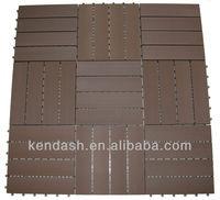 WPC Interlocking DIY Tiles 40x40cm Chocolate