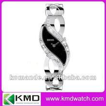 DNA helical structure jewelry ladies watch japan movement quartz