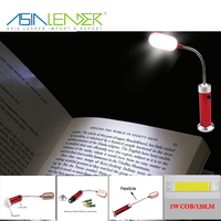 Hot selling 12SMD 120Lumen Aluminium Flexible Book Light with Magnet