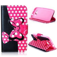 PU Leather Folio Wallet Full Body Protection Case for Samsung Galaxy Core Prime G360 G360H G3606 G3608 G3609