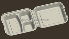 """10""""3 Compartment Food Clamshell, Disposable Food Container,Disposable Food Packaging for Fast Food"""
