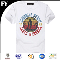 Factory direct t-shirt boys design printing in high quality