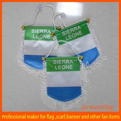 cheap satin flag soccer team pennant