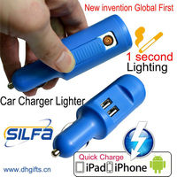 2 USB mobile charger electronic lighter anime car accessories