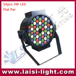 New Aluminum 54pcs RGBW Flat PAR Light,RGBW par led 54 flat,LED 54 pcs3W DMX Lights RGBW or RGB 3 in1 PAR