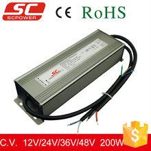 DC 12V 24V 200W 0-10v dimming LED driver for LED strip light