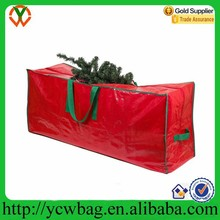 Red heavy duty rolling artificial christmas tree storage bag