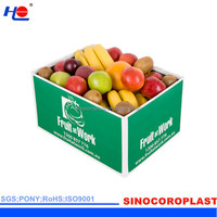 Storage Packaging Collapsible Plastic Fruit Crate