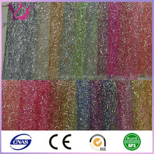 China mix gold wire flowers packaging decoration material mesh fabric