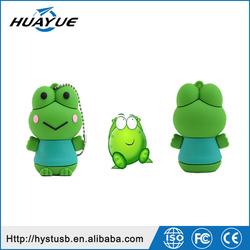 Promotional USB 2.0 Frog Shaped Silicone USB Thumb Memory, Wristband USB Flash Drives with Tin box