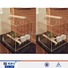 OEM high quality transparent costom figure acrylic display case/acrylic bird cage/acrylic pet cage wholesale