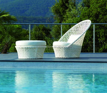 Outdoor Miniature Garden Furniture Stocks Egg Shaped Rattan Sofa(DH-9739)