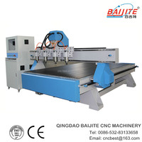 wood cnc router kit with four head factory price high precision CE&ISO9001