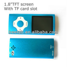 1.8inch TFT 4th high quality support micro sd/tf card fm radio mp4 with FM radio/video/recorder music player