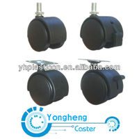 PP Swivel Screw Sofa or Office Chair Caster Wheel With Brake