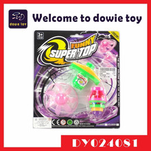 2015 newest toy light-up flying disk with LED light emitting spinning top