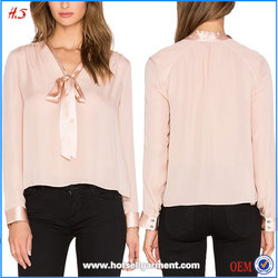 Online Shopping for Wholesale Clothing Design for Formal Blouses / Ladies Formal Western Wear Tieneck Top
