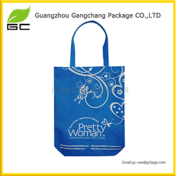 Blue Reusable portable non woven shopping bag