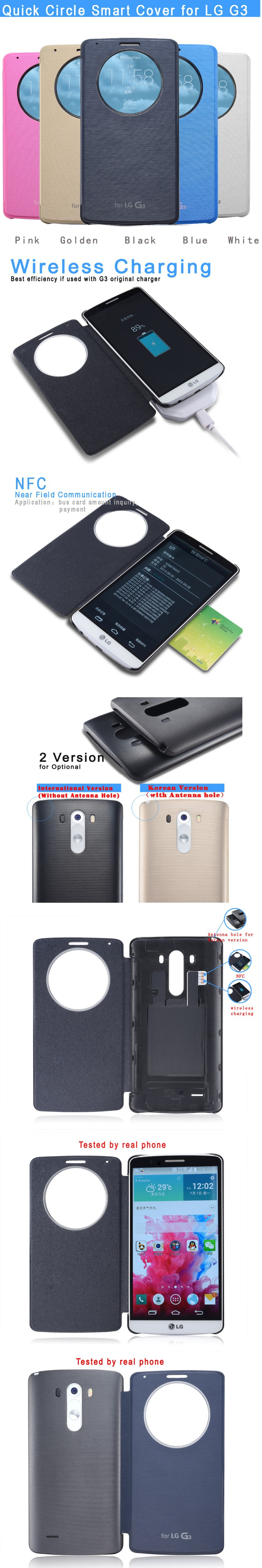 alibaba china supplier flip leather case for lg g3 circle case
