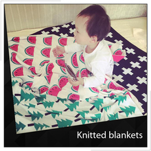 Cross Knit Baby Blanket And Throw