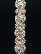 wuku in rose gold crystal trims for bridal wedding dress