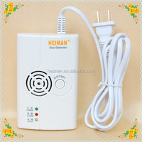 Home Standalone wired Sound and flash alarm portable LPG gas leak detector