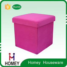 Factory cheap storage chair stool storage box for Customize
