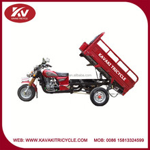 Popular fashion India high quality red cargo moped tricycle with 150cc air-cooled engine