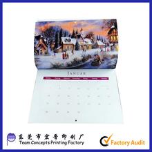New 2016 Christmas paper calendar wholesale