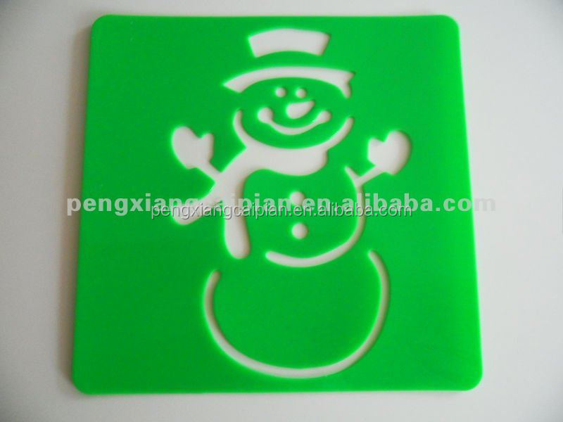 plastic drawing stencil/template