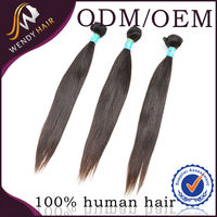 New style double drawn 16 inches straight aaa grade virgin indian remy hair extensions