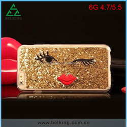 Bling Soft TPU case for Iphone 6 with small lip and big eyes design