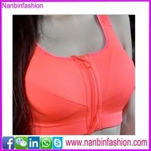 2015 new zipper orange sex bra images for women sport bra