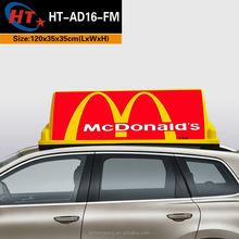 Yellow PP plastic waterproof car roof advertising