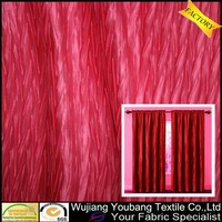 Fashionable crinkle polyester satin curtain fabric