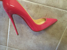 Pink Patent Pump Leather Heels 12cm women fashion Luxury Evening Prom Bridal High Heel Wedding Shoes