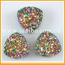 Druzy Wholesale!!Amazing new products multicolor rainbow agate druzy loose genstome