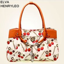 2013best selling korea series fashion print PVC brand bag women versatile handbags