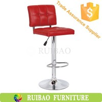 Bar Furniture 330 Chroming Base 385mm Gas Lift Faux Leather Bar Stool
