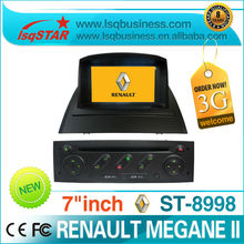 2 Din 7 inch Renault Megane II car dvd player with dvd/cd/mp3/mp4/bluetooth/ipod/radio/tv/6v-cdc/gps/3g! hot selling!