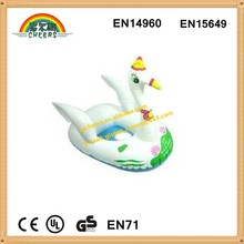 Swan shaped baby inflatable swimming seat boat