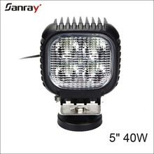 5 inch 40W flood beam waterproof 18 months warranty 6000K 4wd led work light