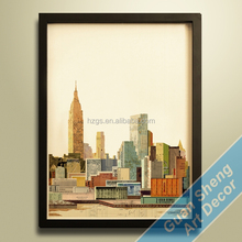good sale city style oil paintings on canvas for decoration
