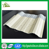 soundproof yellow uv-protected decorative spanish pvc roofing tile with great price
