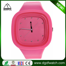 Fashion silicone jelly watch wholesale,mixed color as your request