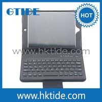 Bulk wholesale bluetooth wireless keyboard leather tablet case for ipad mini